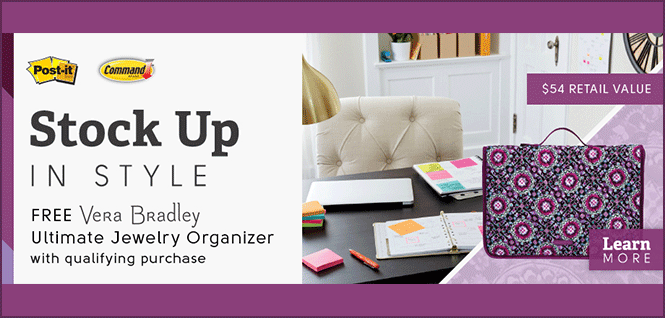 FREE Vera Bradley Ultimate Jewelry Organizer w/Purchase! Click For Details!
