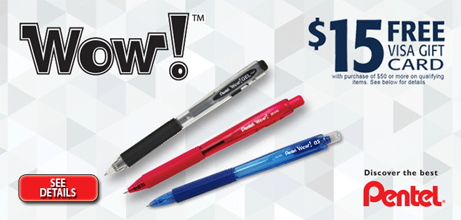 $15 Mail-In Rebate with $50 Purchase! WOW!